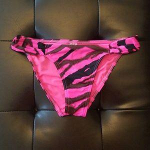 Hot Pink & Black Zebra Print Bikini Bottoms